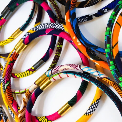 Showing a selection of rope necklaces in various designs and fabrics. Pattern Punch
