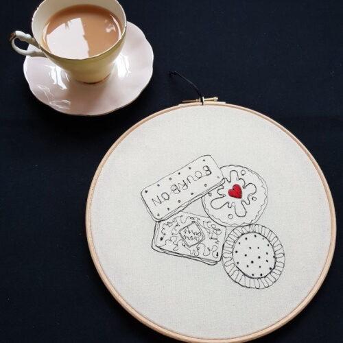 Gemma Rappensberger Embroidered illustration of Biscuits