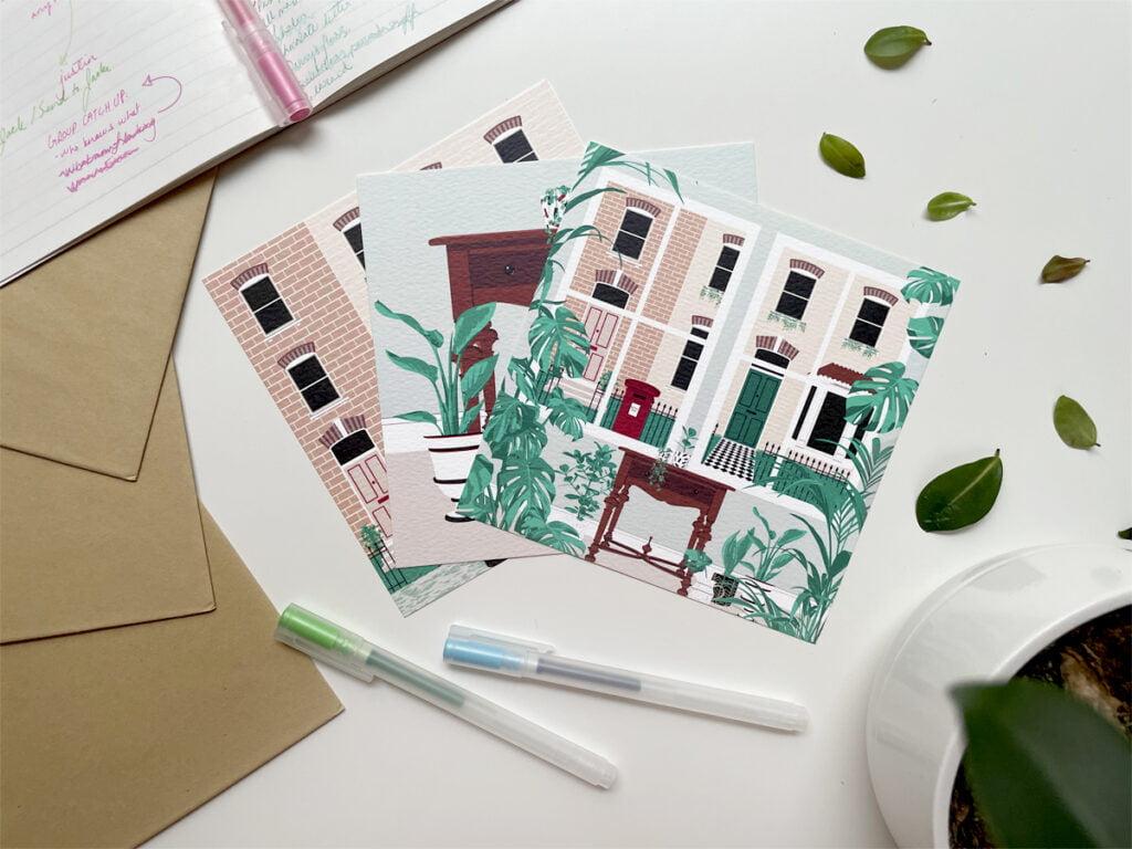 Green Door Studio London Set of 3 London designs postcard set