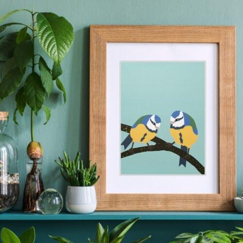 bluetit a5 print by daffodowndilly