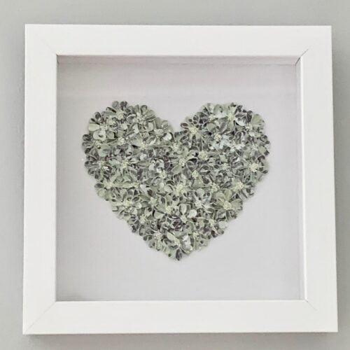 Fleur de L'amour Picture of green and blue heart