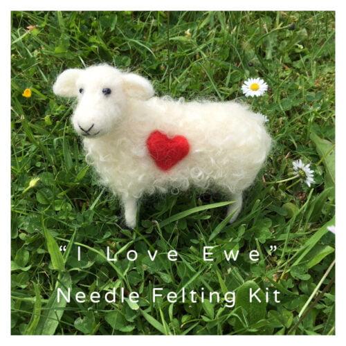 """Guineaford Arts """"I Love Ewe"""" Needle Felting Kit"""