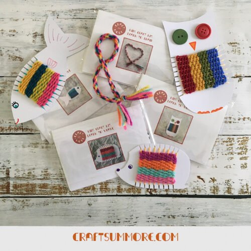 Craft sum More's Kids Craft Kits. Suitable for ages 5+.