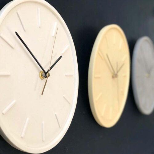 Romy Design Jesmonite Wall Clocks