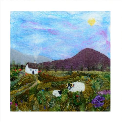 giclee print with image of wool felt Heather Hill & Ewe
