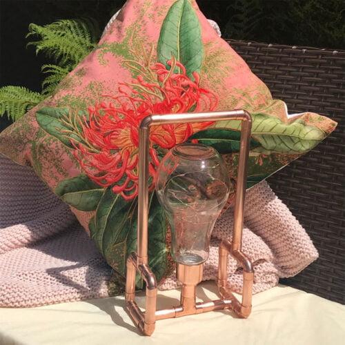 Copper and Blonde Copper Garden Lantern