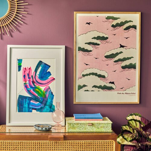 Original art by ForrSsa in pink and blue