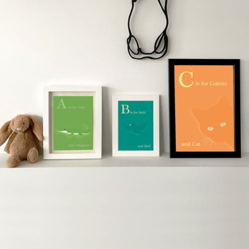 Creative Pickle Personalised alphabet prints