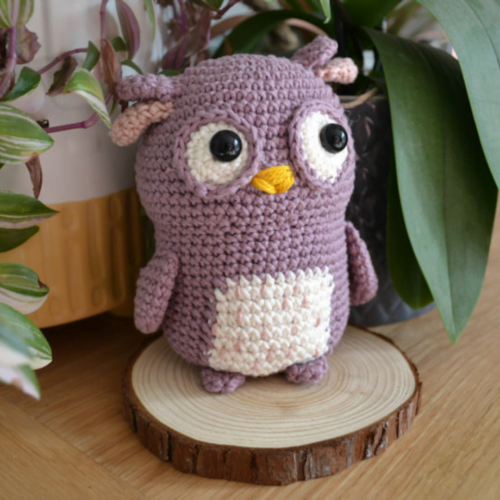 Little Smidge of Happiness Crochet Owl Decoration