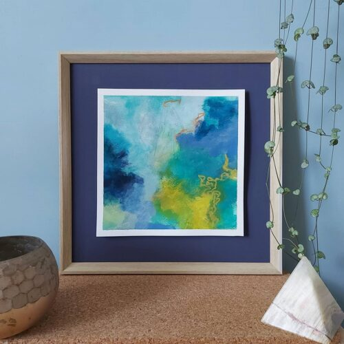 Art By Stacey Mitchell, framed abstract painting