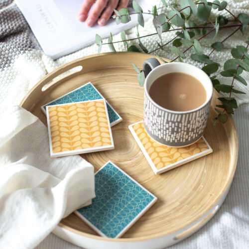 Tile coasters by Yellow Room Designs