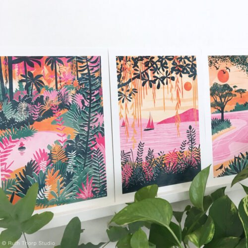 Paradise Summer Art Prints_Ruth Thorp Studio