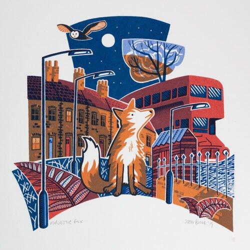 Majestic Fox print