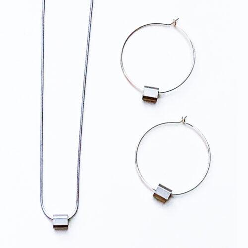Factory Floor Jewels Steel and Aluminium jewellery set