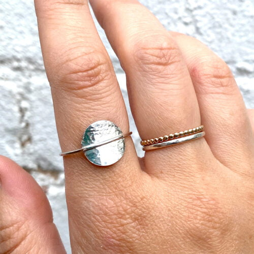 Cicee silver eclipse ring