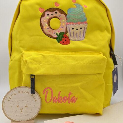 Childrens backpack, personalised backpack, embroidered backpack, school backpack, kids backpack, Love from Bear