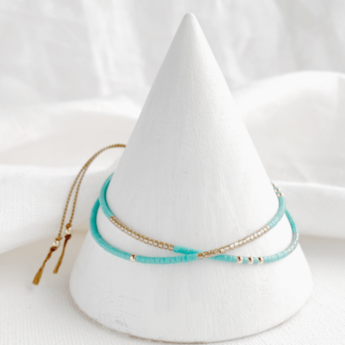 hardy to hudson, fistral turquoise and gold bracelet