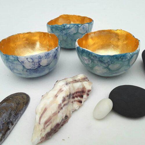 Cherryloftstudio. Glow Bowl made from semi porcelain clay