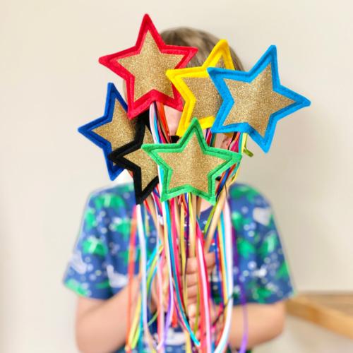 Rainbow Star Magic Wands