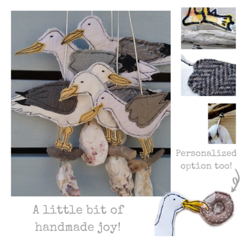Mae Kandoo Seagull collage featuring close up details
