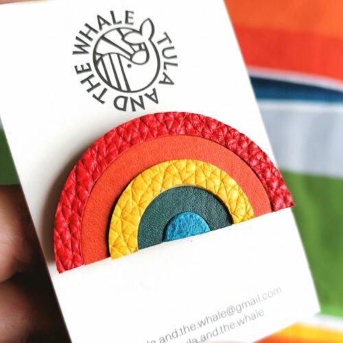 Tula & the Whale - Rainbow Badge