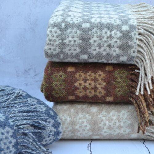 Hand woven Welsh blankets