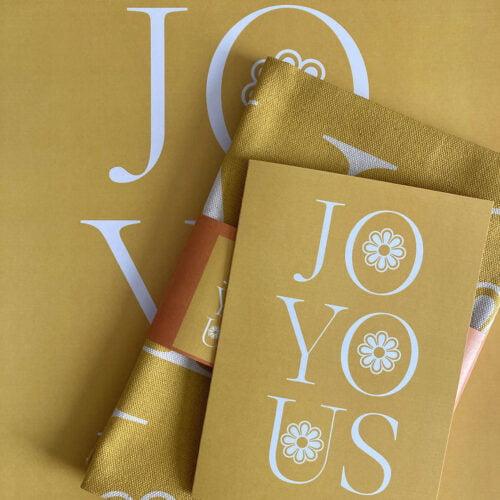 Joyous Tea towel, card and print