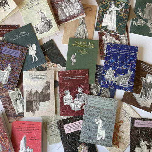 The Forgotten Library - selection of greeting cards.