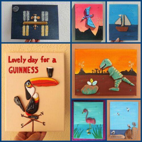 La Sirena Gift Shop, custom canvas beach art