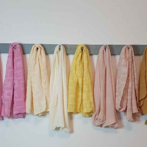 Colour Range of Hand Dyed Scarves
