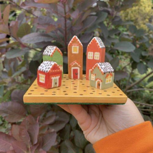 Utterly Pottery Autumn Houses