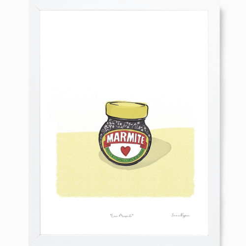 Framed Marmite illustration