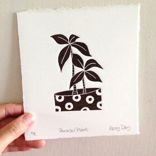 Kerry Day Arts Parasol Plant Botanical Lino Prints