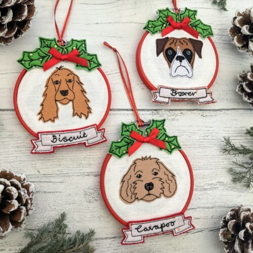 Personalised Christmas Pet Portrait from a photo of your pet