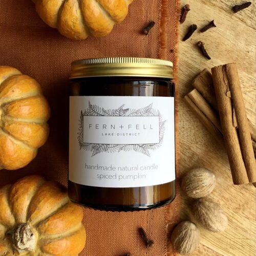 spiced pumpkin natural handmade candle