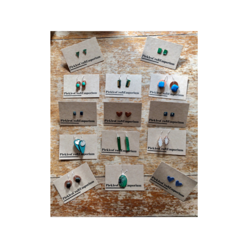 A display of 15 recycled jewellery